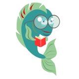 Lettura del pesce Immagini Stock Libere da Diritti