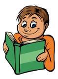 Lettura del ragazzo illustrazione di stock
