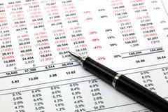 Rapporto di finanze immagine stock libera da diritti