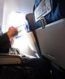 Lettura dell'aereo di aria Immagine Stock Libera da Diritti