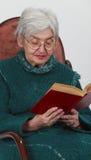 Lettura dell'anziana Immagini Stock