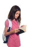 Lettura della scolara Immagini Stock Libere da Diritti