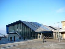 Lettura della stazione ferroviaria Fotografia Stock