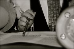 Lettura di Torah Fotografia Stock