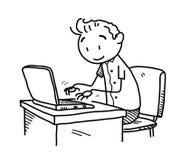 Lettura rapida dello scarabocchio di Internet Immagine Stock