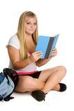 Lettura teenager dell'allievo Fotografie Stock