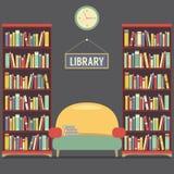 Lettura vuota Seat nella biblioteca illustrazione vettoriale
