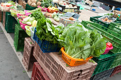 Letuce and different vegetables. In a market place Stock Images