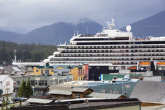 Letzte Kreuzfahrt in Alaska Stockfotos