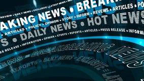 Letzte Nachrichten - gedrehte Wörter lizenzfreie abbildung