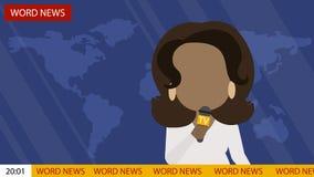 Letzte Nachrichten im Fernsehen stock abbildung