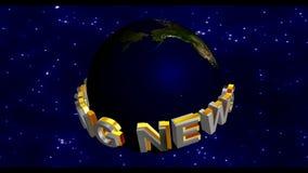 Letzte Nachrichten - Sendungs-Grafik-Titel stock video