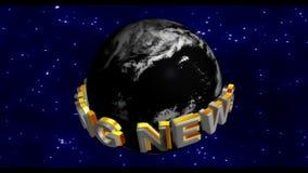 Letzte Nachrichten - Sendungs-Grafik-Titel stock footage