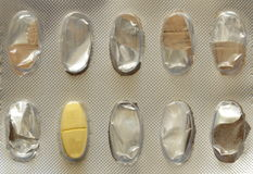 Letzte Pille in der Blisterpackung Stockfotografie