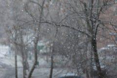Letzte Schneefälle Stockbild