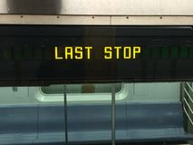 Letzte Station, iPhone Foto Lizenzfreie Stockfotos