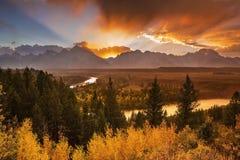 Letzter Autumn Rays Stockfotografie