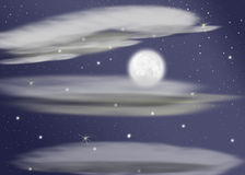 Letzter Mond lizenzfreies stockfoto