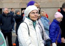 Letzter Tag des Festivals auf 75. Jahrestag von John Lennon-Festival in Riga Stockbild