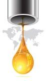 Letzter Tropfen des Öls fließend aus dem Rohrende heraus Stockfotos