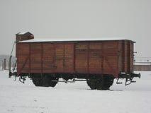 Letzter Zug in Auschwitz stockfotos