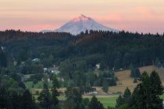 Letztes Licht auf Berg-Haube Stockfotos