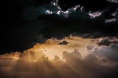 Letztes Licht des Tages bei Chidambaram, Indien Stockbilder