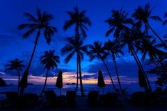 Letztes Licht des Tages nach Sonnenuntergängen Stockfoto