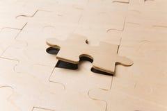 Letztes Puzzlespiel-Stück Stockfoto
