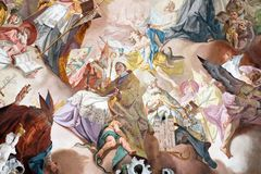Letztes Urteil und Verherrlichung des Benediktinerordens lizenzfreie stockfotos