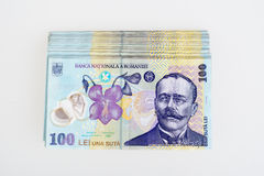 Leu romeno 100 do dinheiro Imagens de Stock Royalty Free