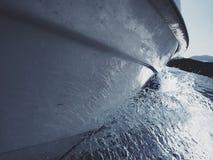 Leucade, éclaboussure de sillage de bateau de skorpio image stock