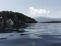 Leucade, l'eau calme de skorpio Photos libres de droits