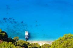 Leucade: spiaggia caraibica selvaggia e bella Immagini Stock