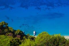 Leucade: spiaggia caraibica selvaggia e bella Fotografia Stock Libera da Diritti