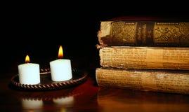 Leuchte auf alter Geschichte Lizenzfreies Stockbild