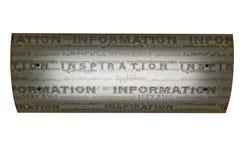 Leuchte der Inspiration und der Informationen Stockbilder
