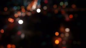 Leuchte in der Nacht stock footage