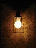 Leuchte in der Schwärzung Stockfoto