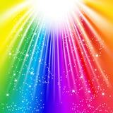 Leuchte des Regenbogens Stockfotografie