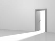 Leuchte durch eine Tür lizenzfreie abbildung