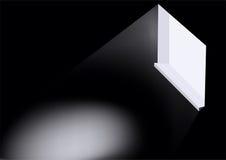 Leuchte in einem Fenster Lizenzfreies Stockbild