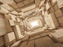 Leuchte am Ende des Tunnels Lizenzfreie Stockfotos