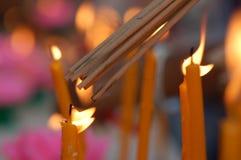 Leuchte für Gebet Lizenzfreie Stockfotografie