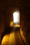 Leuchte im Ende des Tunnels Stockbild