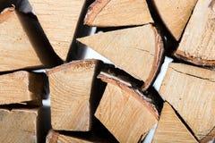 Leuchte meldet ein woodpile Grau an Lizenzfreie Stockfotografie