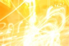 Leuchte-Spuren in der Dunkelheit Lizenzfreie Stockbilder