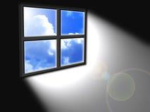 Leuchte vom Fenster Lizenzfreie Stockbilder