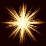 Leuchteimpuls, Feuerwerke, Objektivaufflackern Stockfoto