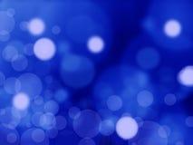 Leuchten auf blauer background Stockbild